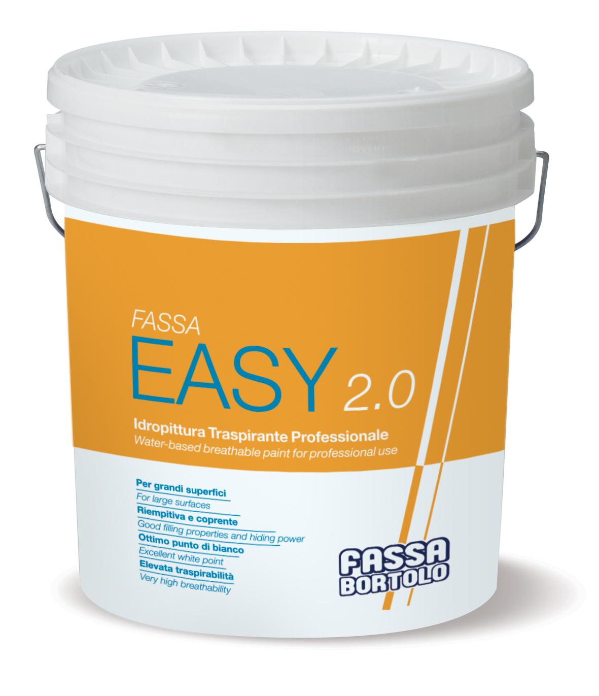 FASSA EASY 2.0: Tinta de água transpirável profissional para interiores