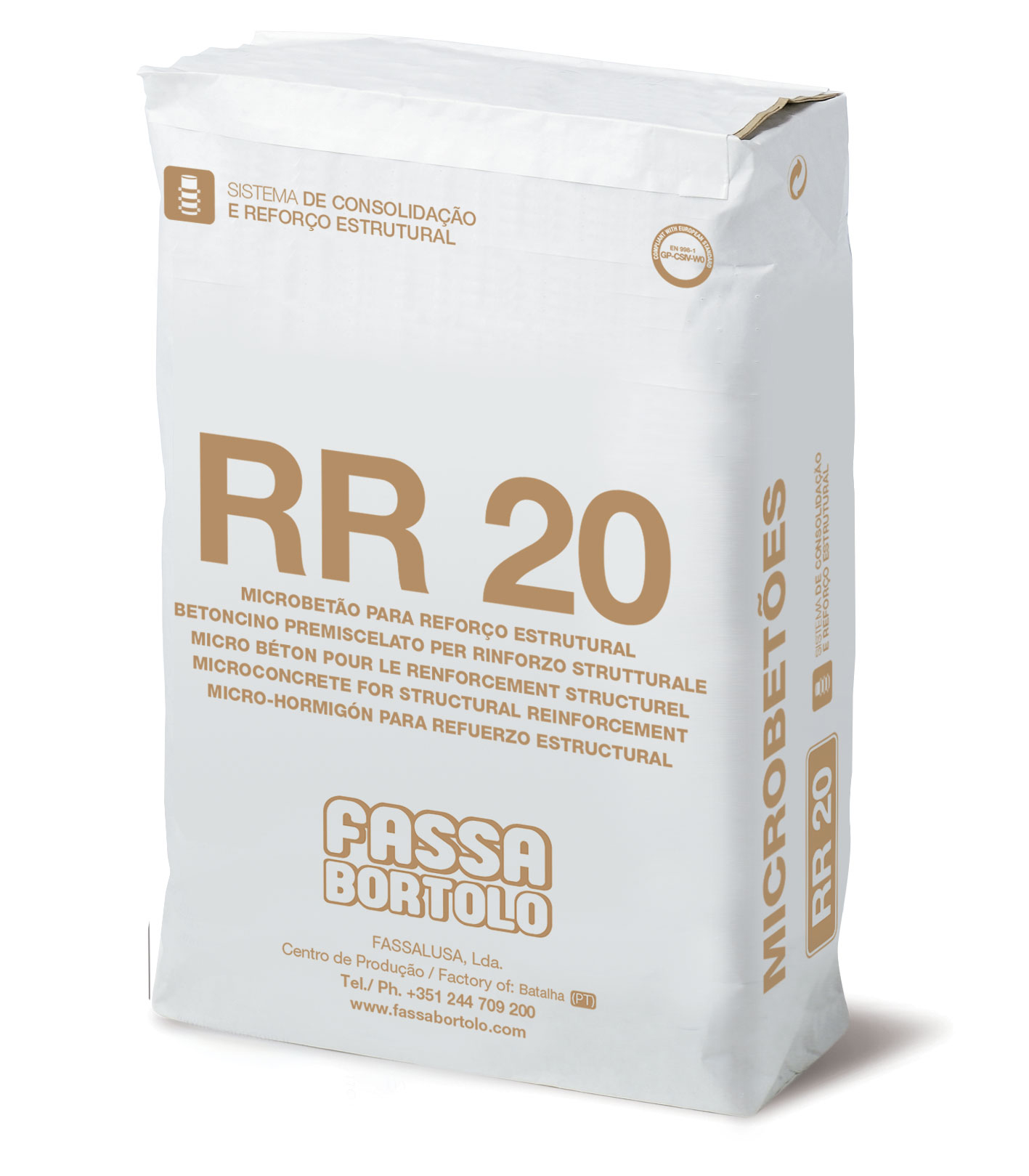 RR 20: Argamassa cimentícia fibro-reforçada para a consolidação de alvenarias antigas