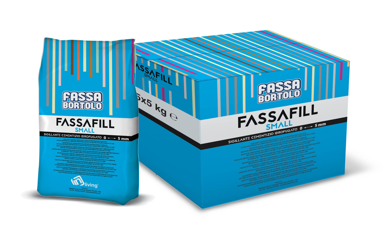 FASSAFILL SMALL: Betume cimentício hidrofugado, com altas resistências mecânicas e elevada resistência à abrasão, resistente a mofos e algas, para betumar juntas de 0 a 5 mm