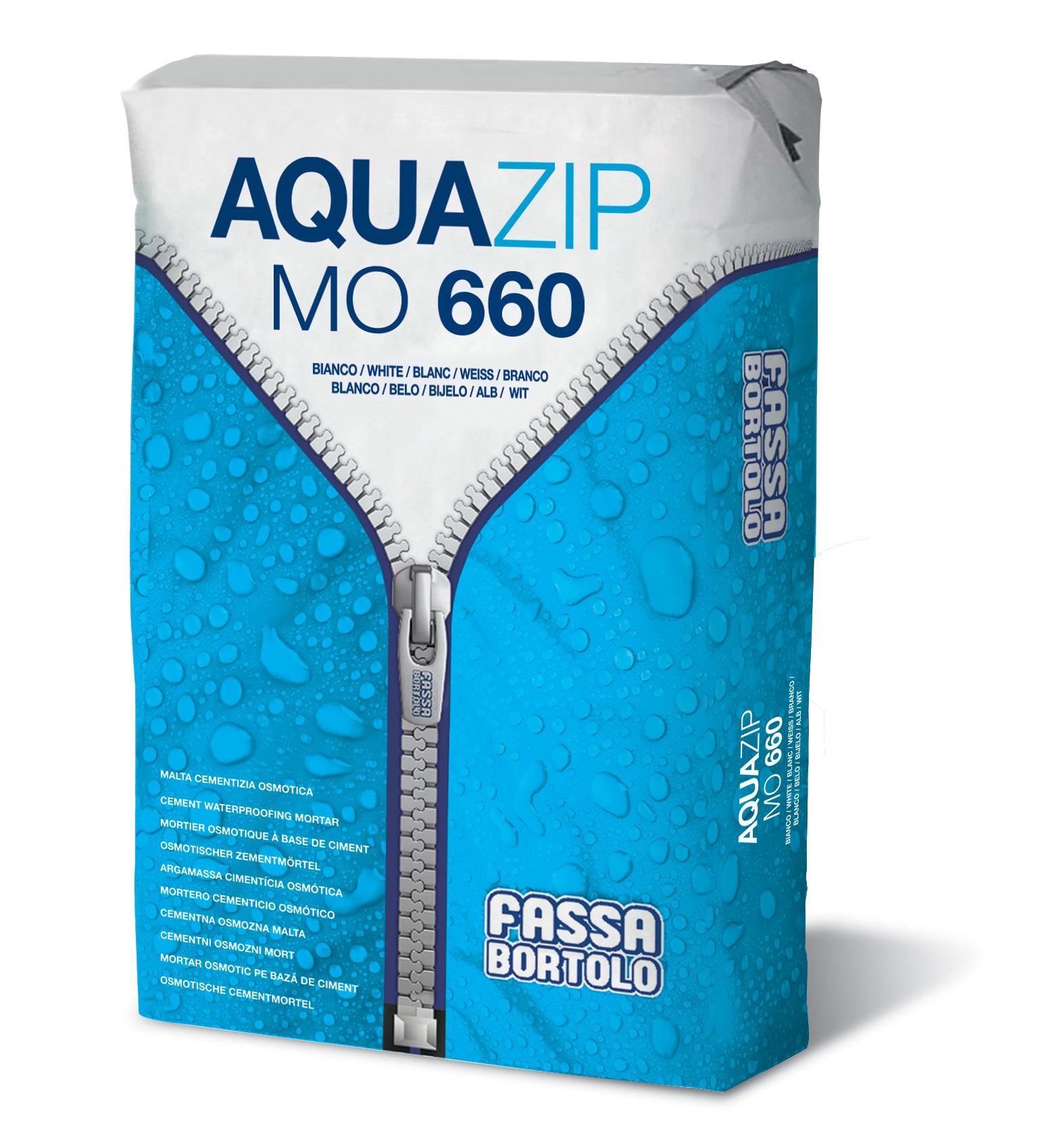 AQUAZIP MO 660: Argamassa cimentícia monocomponente osmótica para a impermeabilização de estruturas em alvenaria e betão