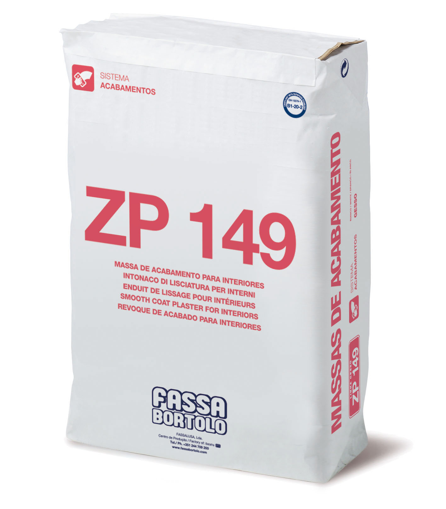 ZP 149: Massa de acabamento à base de gesso para interior