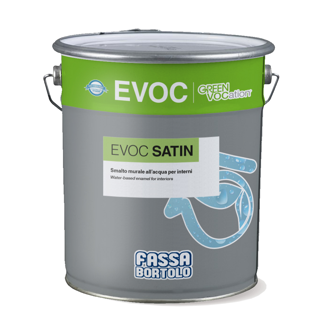 EVOC SATIN: Esmalte mural de água acetinado para interiores
