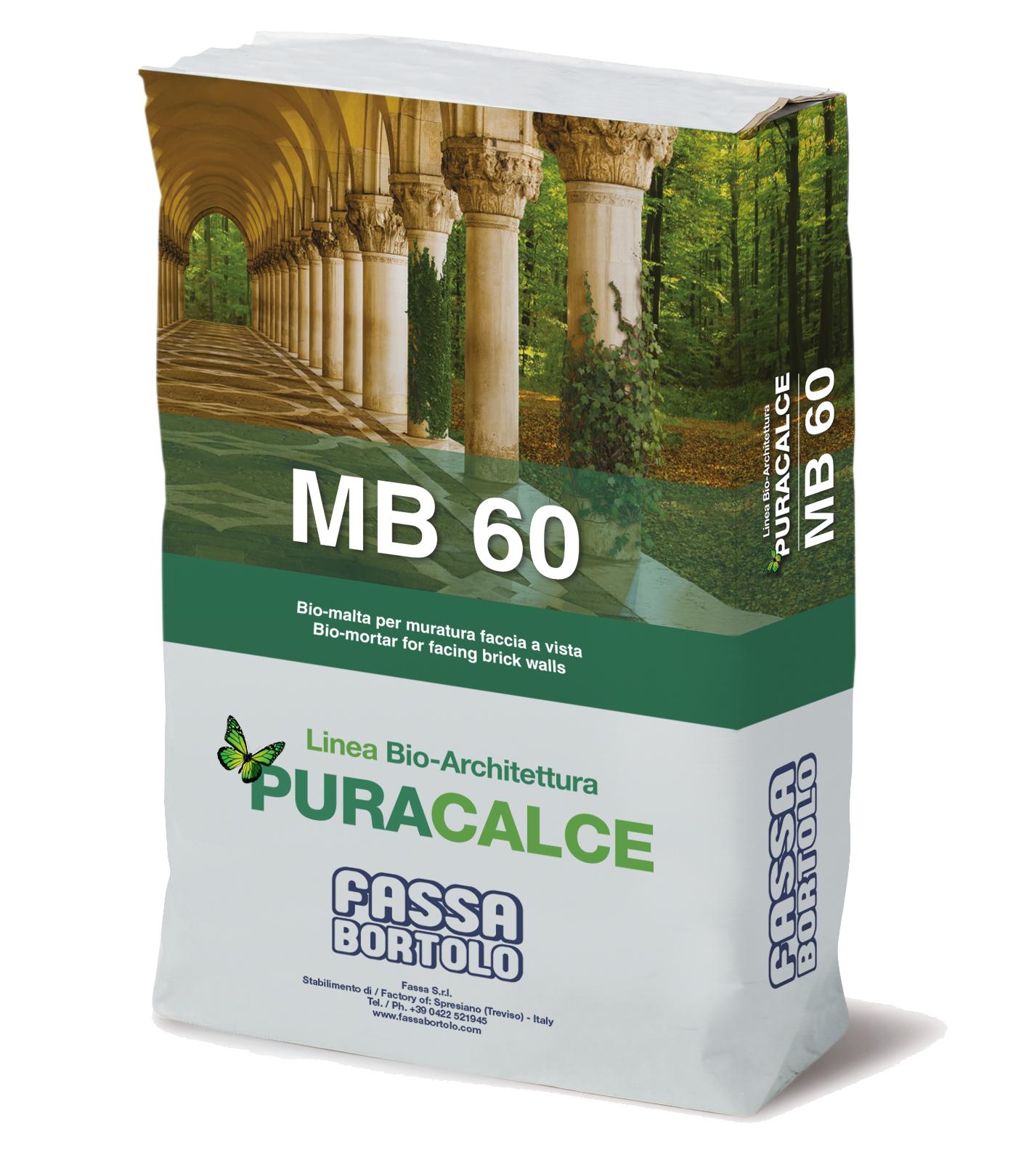 MB 60: Bio-argamassa para alvenaria face à vista, branca para interior e exterior