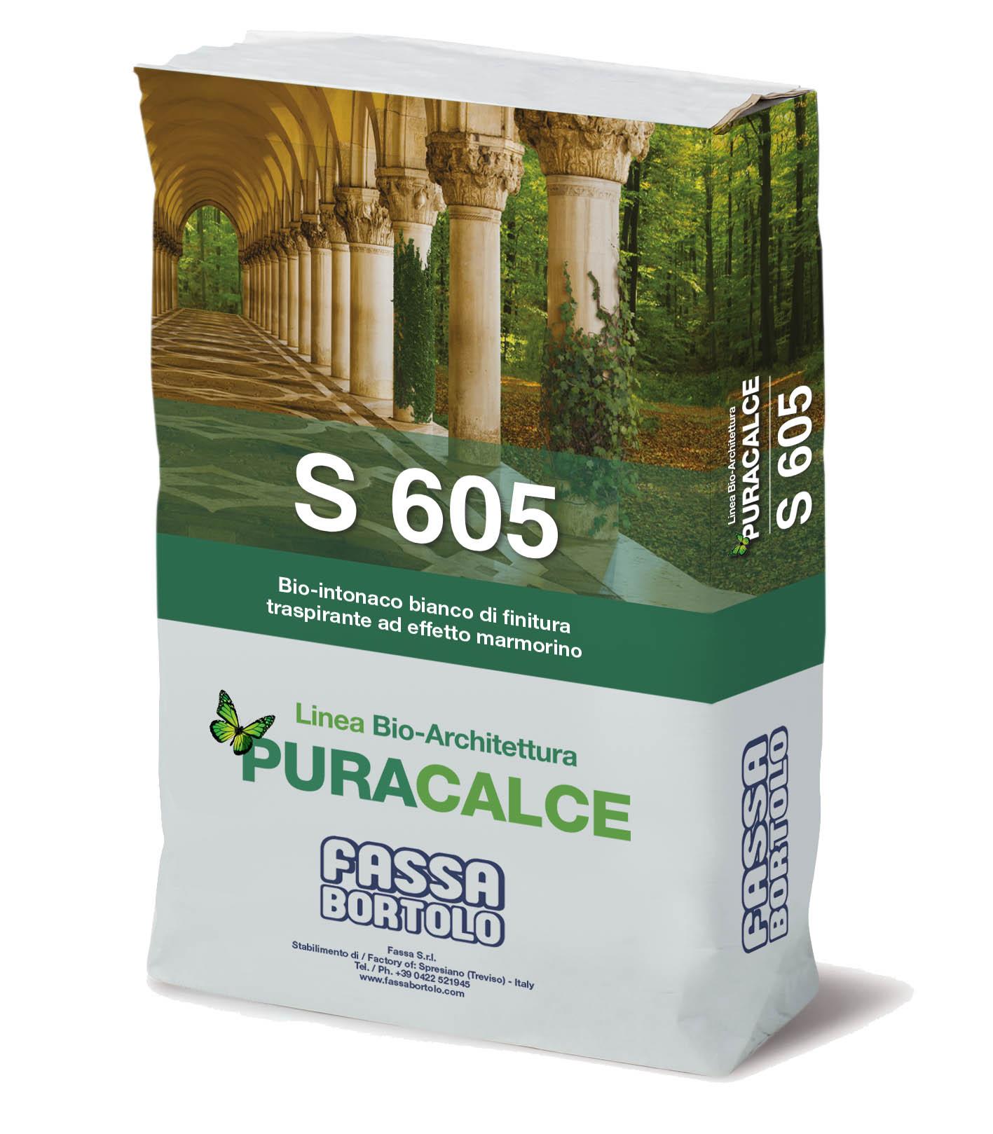 S 605: Bio-reboco branco de acabamento fino para o saneamento de alvenarias, para interior e exterior