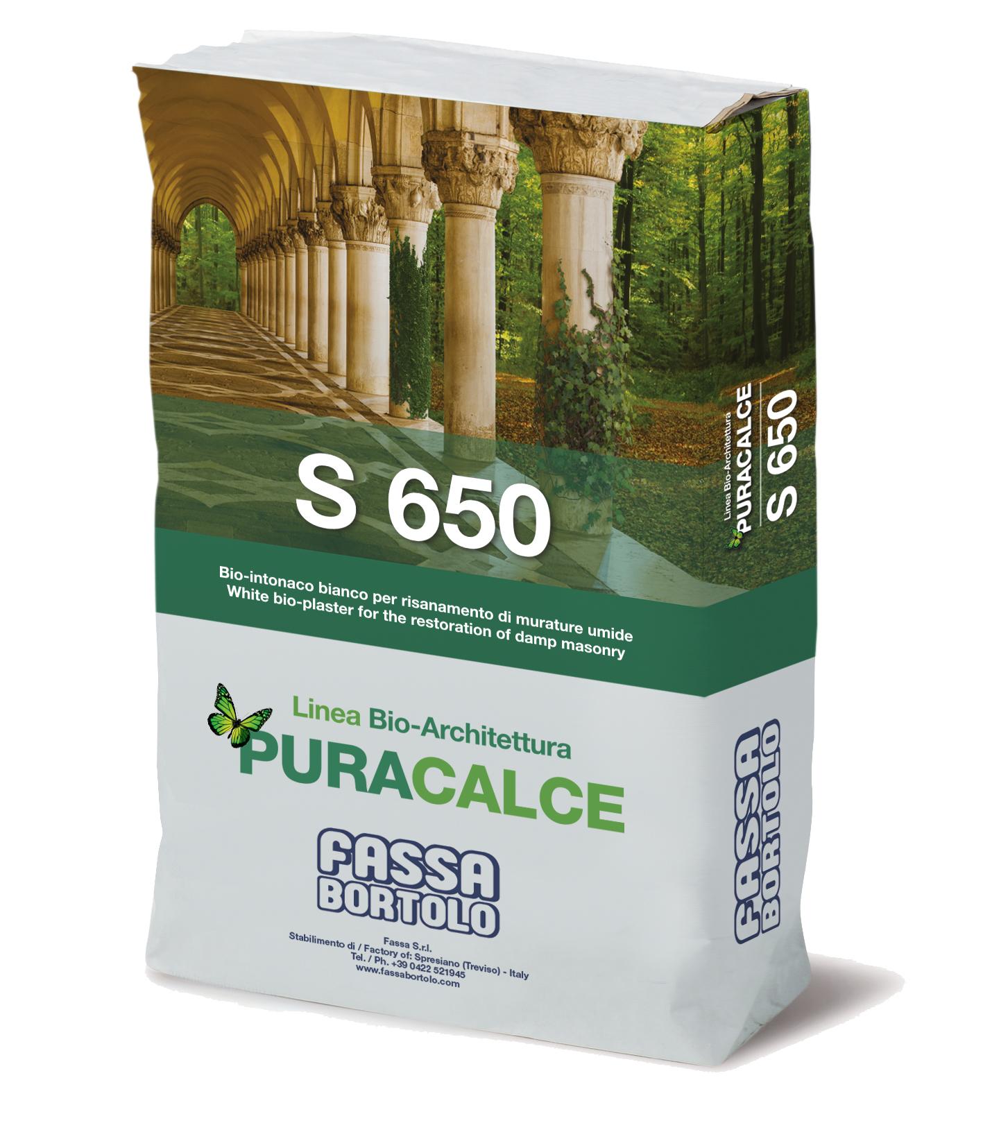 S 650: Bio-chapisco branco para o saneamento de alvenarias antigas para interior e exterior