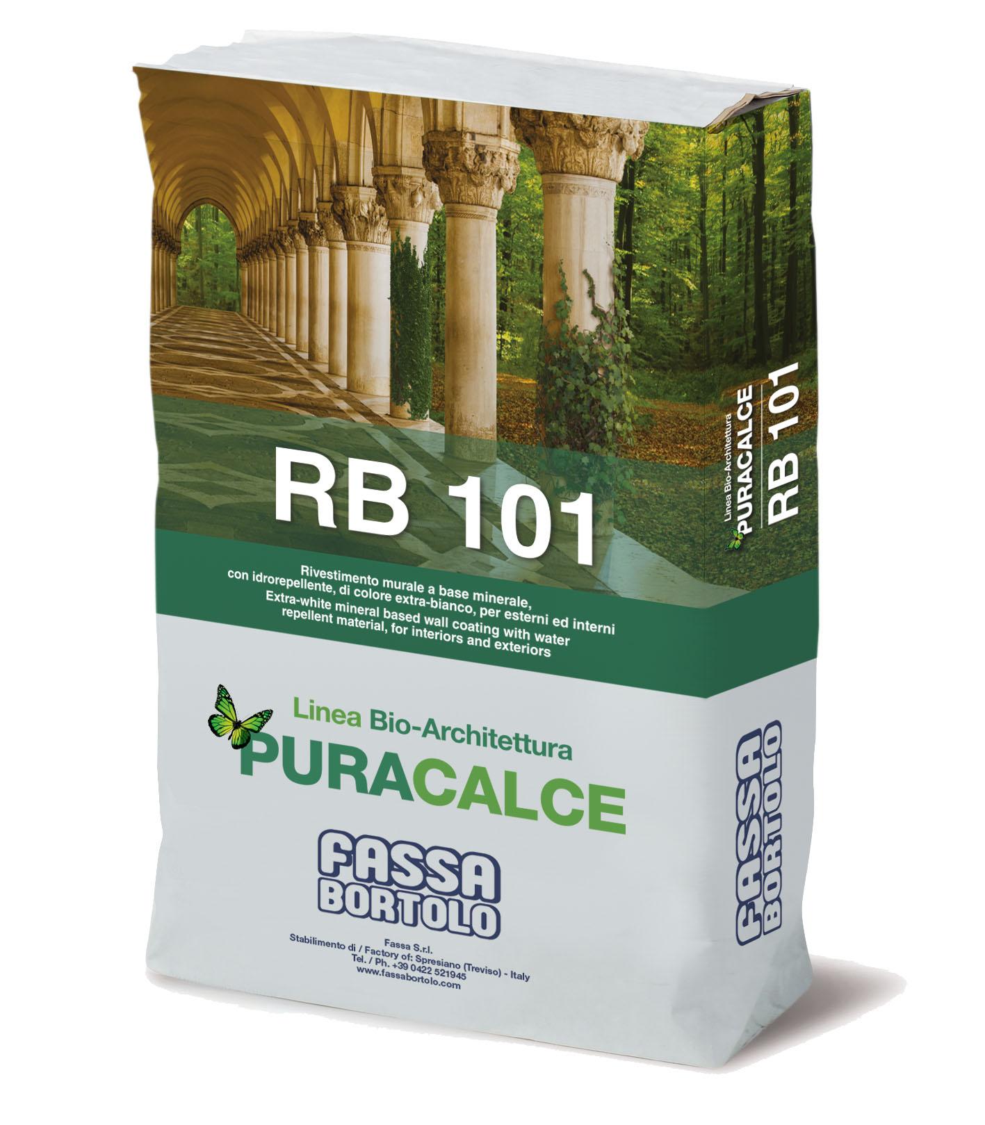 RB 101: Bio-revestimento extra-branco de base mineral para interior e exterior
