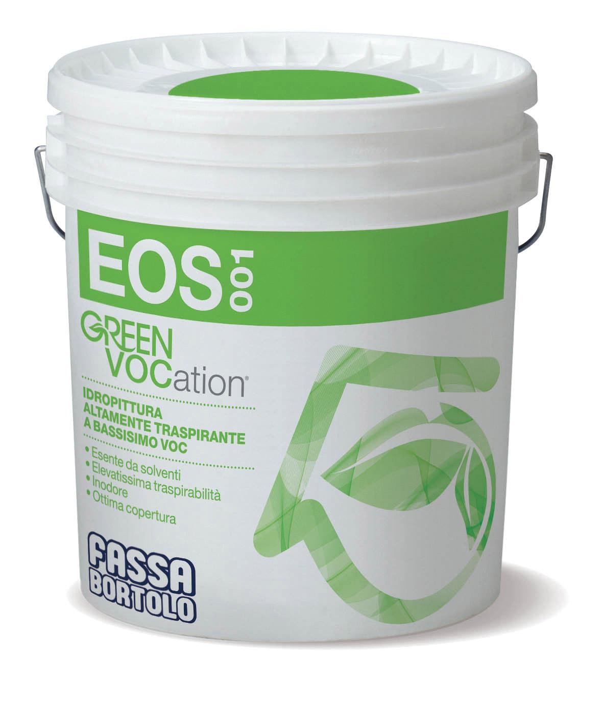 EOS 001: Tinta aquosa altamente transpirante para interior com baixíssimos COV