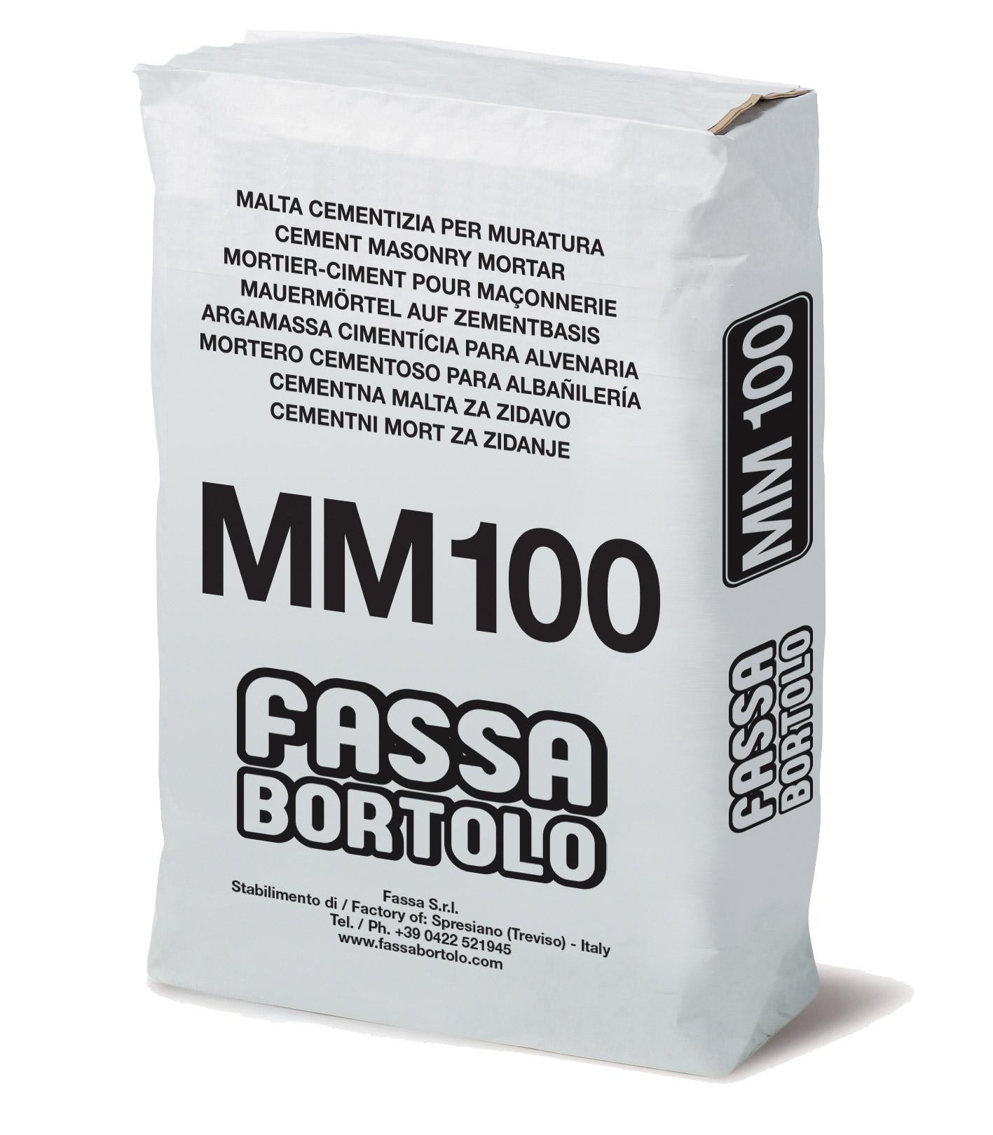 MM 100: Argamassa cimentícia para alvenaria