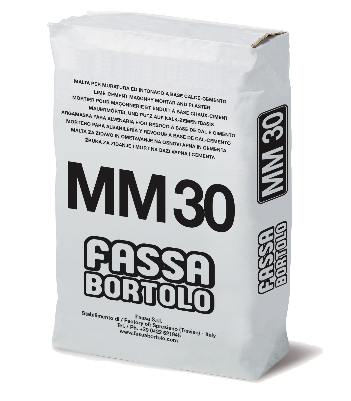 MM 30: Argamassa cimentícia para alvenaria