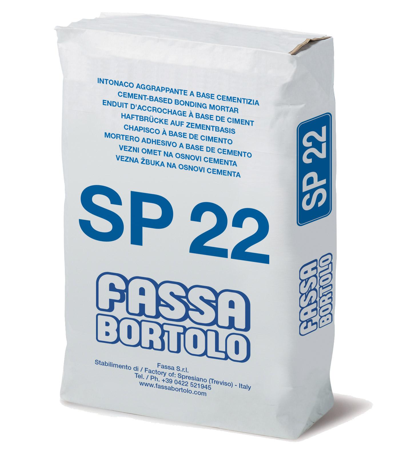 SP 22: Chapisco de base cimentícia para superfícies de betão, com elevadas prestações, para interior e exterior