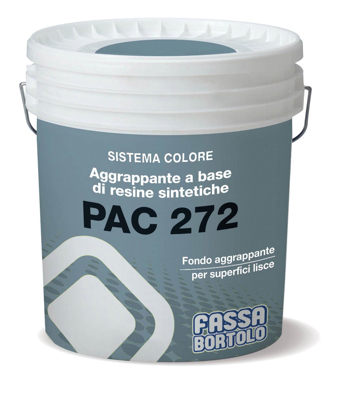 PAC 272: Primário de adesão à base de resinas sintéticas, para rebocos à base de gesso e cal-gesso sobre betão.