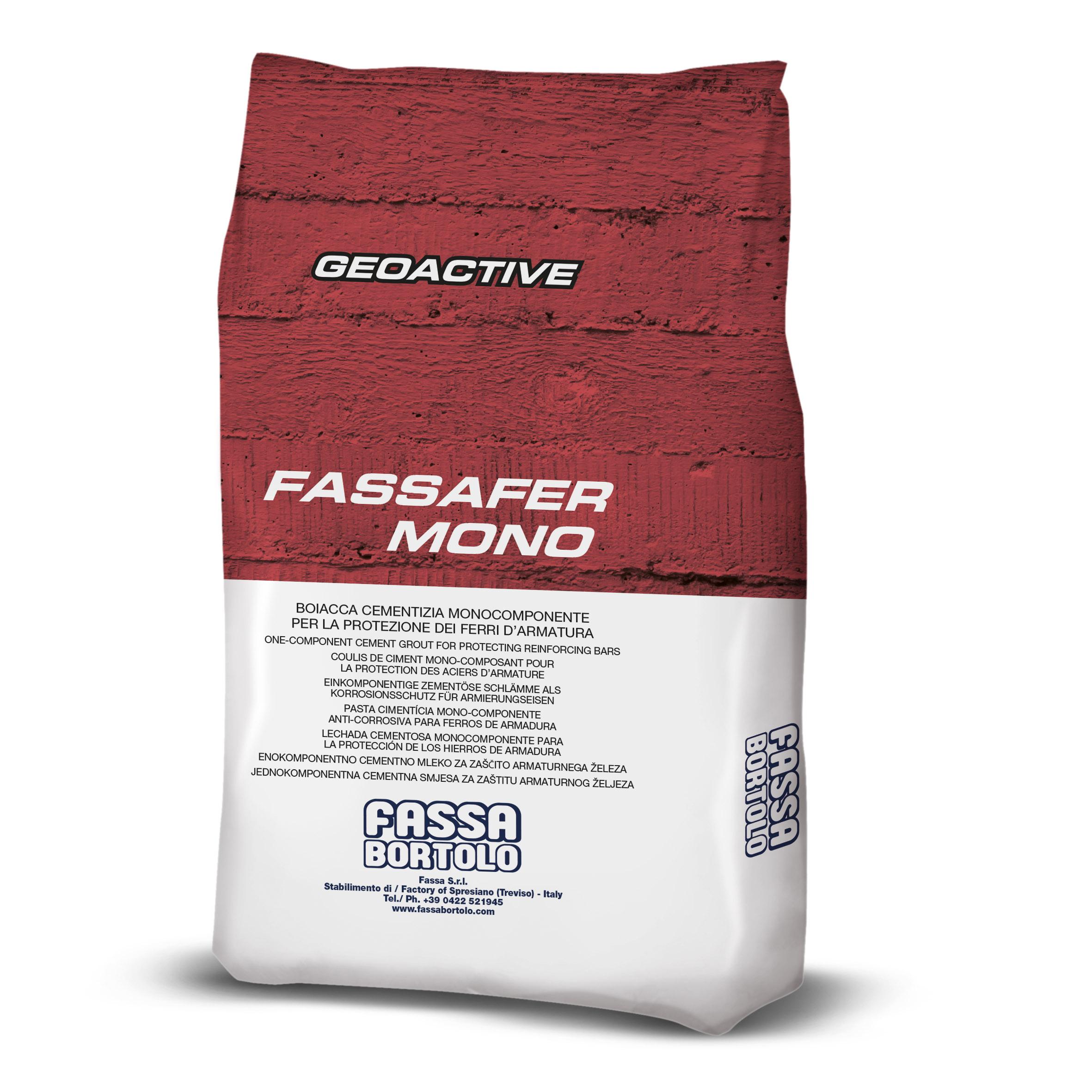 FASSAFER MONO: Tratamento cimentício mono-componente para a proteção ativa dos varões de armação