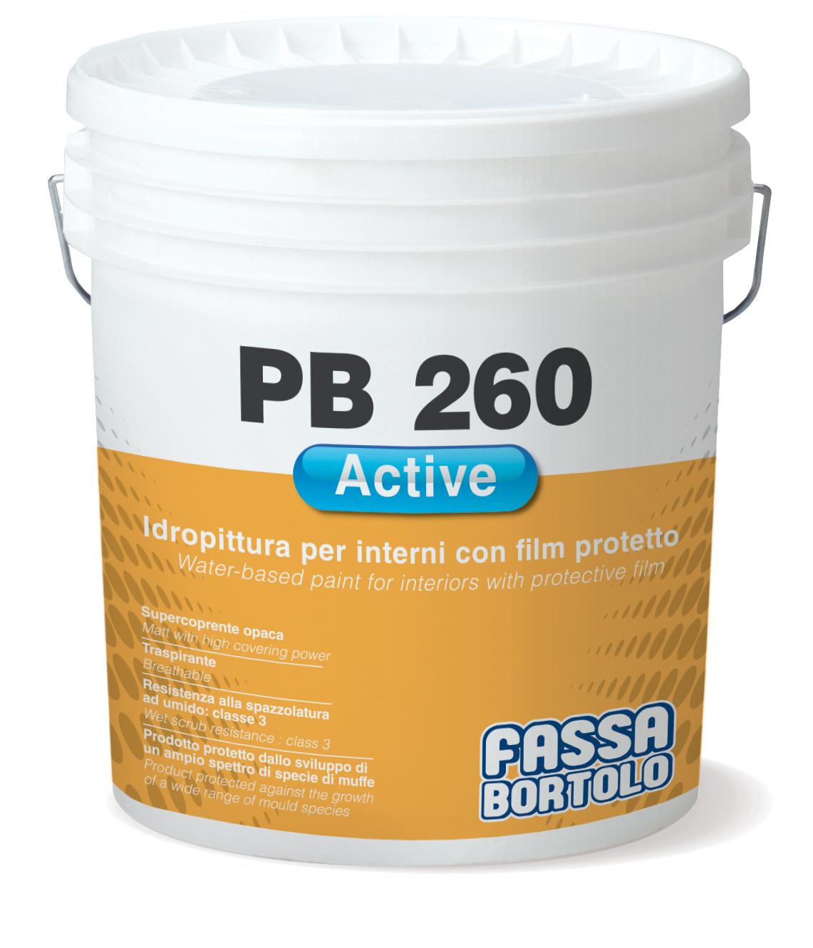 PB 260 ACTIVE: Tinta de água com filme de proteção