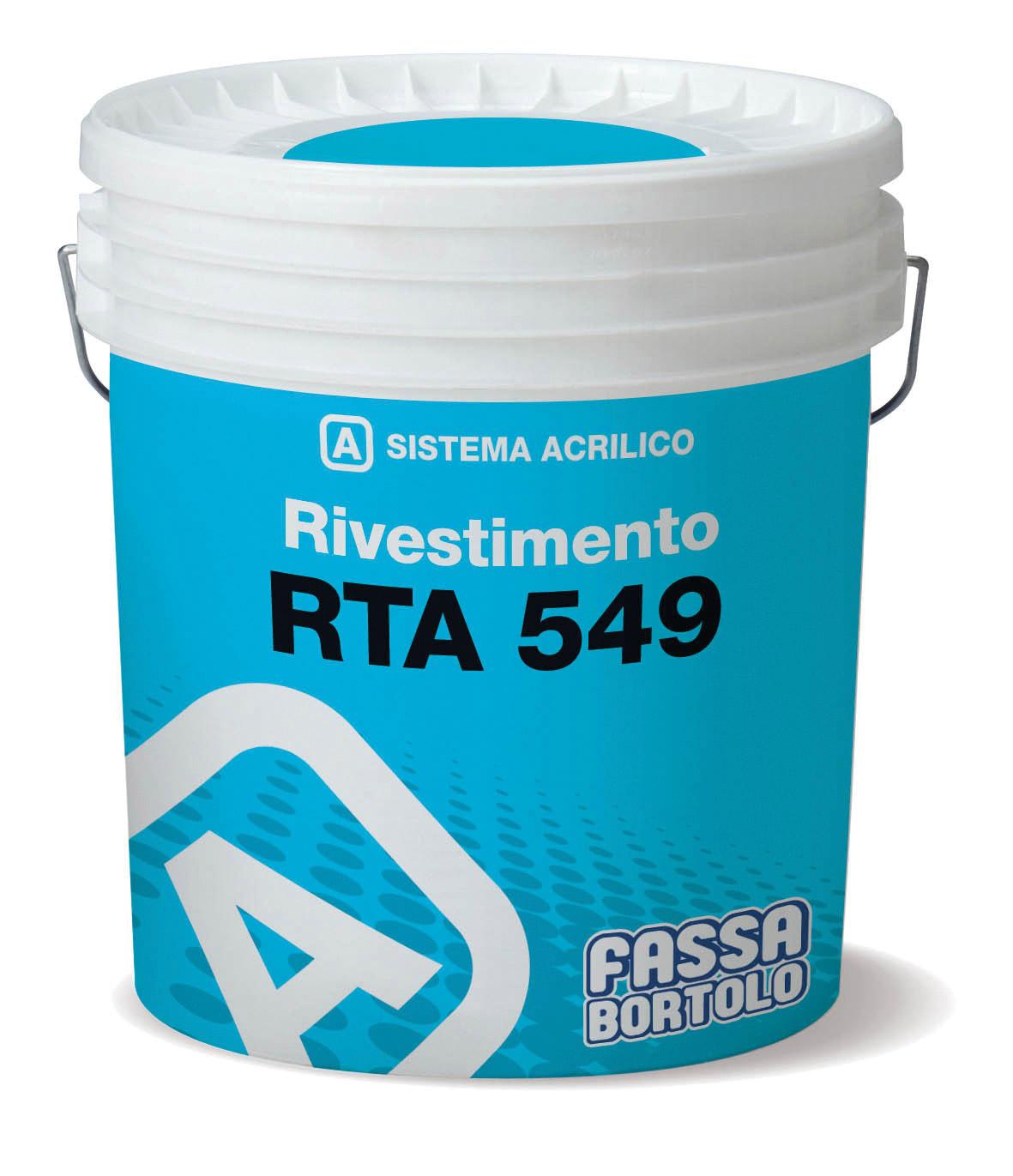 RTA 549: Revestimento acrílico adequado para superfícies isoladas termicamente.