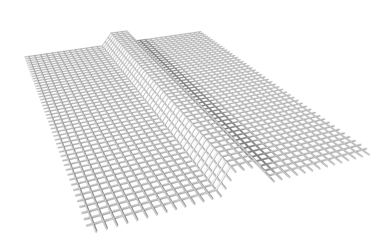 REDE DE ARMADURA PRÉ-MOLDADA EM TRIÂNGULO: Rede de armadura pré-moldada em triângulo