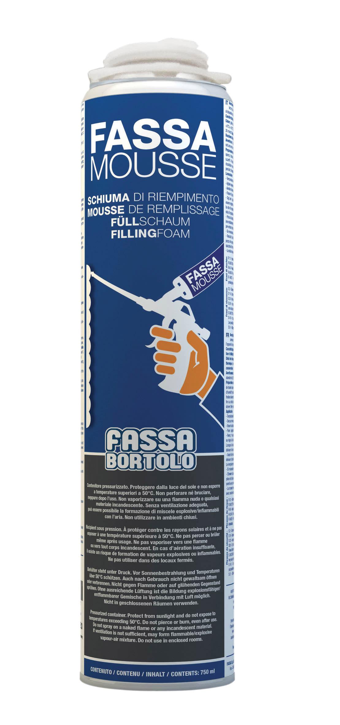 FASSA MOUSSE: Espuma para selagem de juntas (0-4 mm) entre placas de isolamento térmico