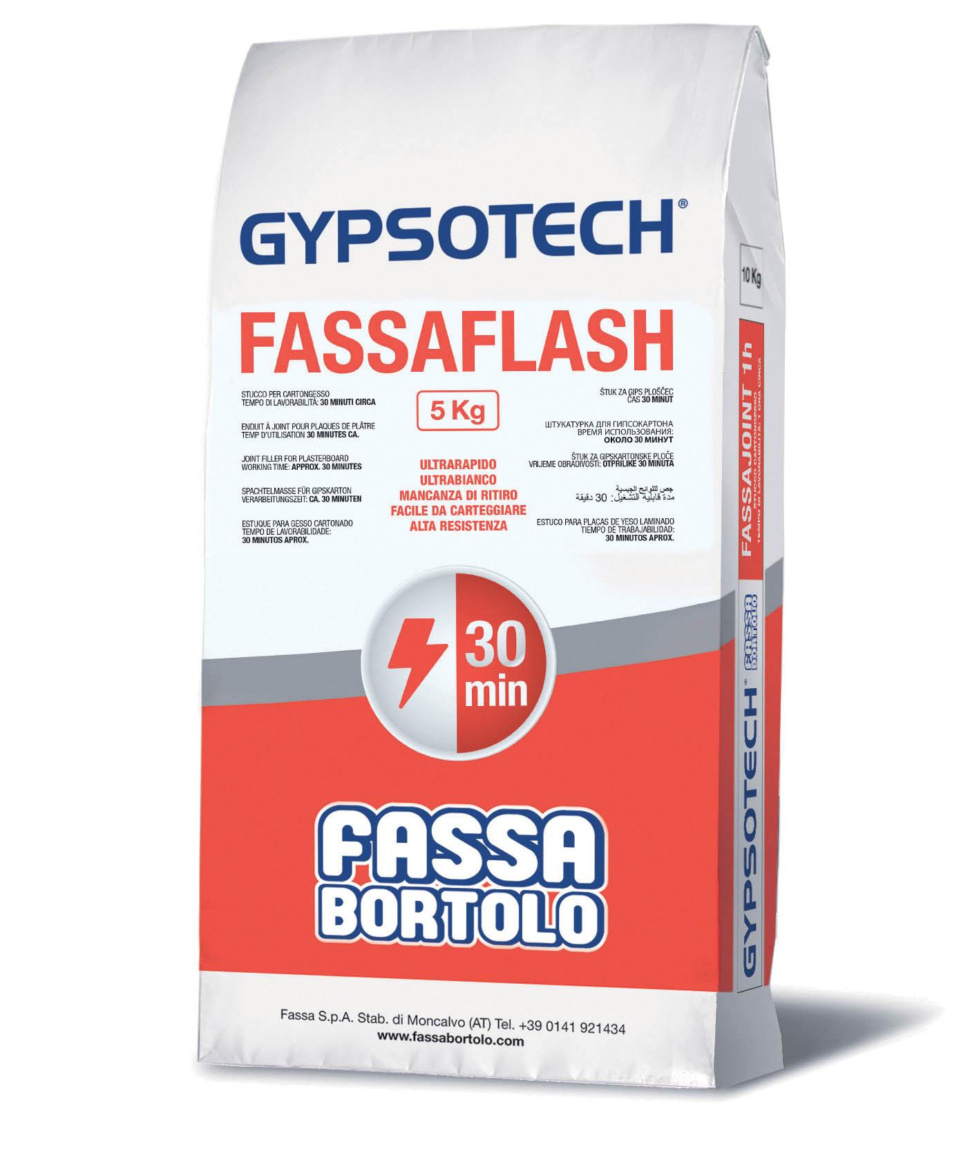FASSAFLASH: Estuque para gesso cartonado