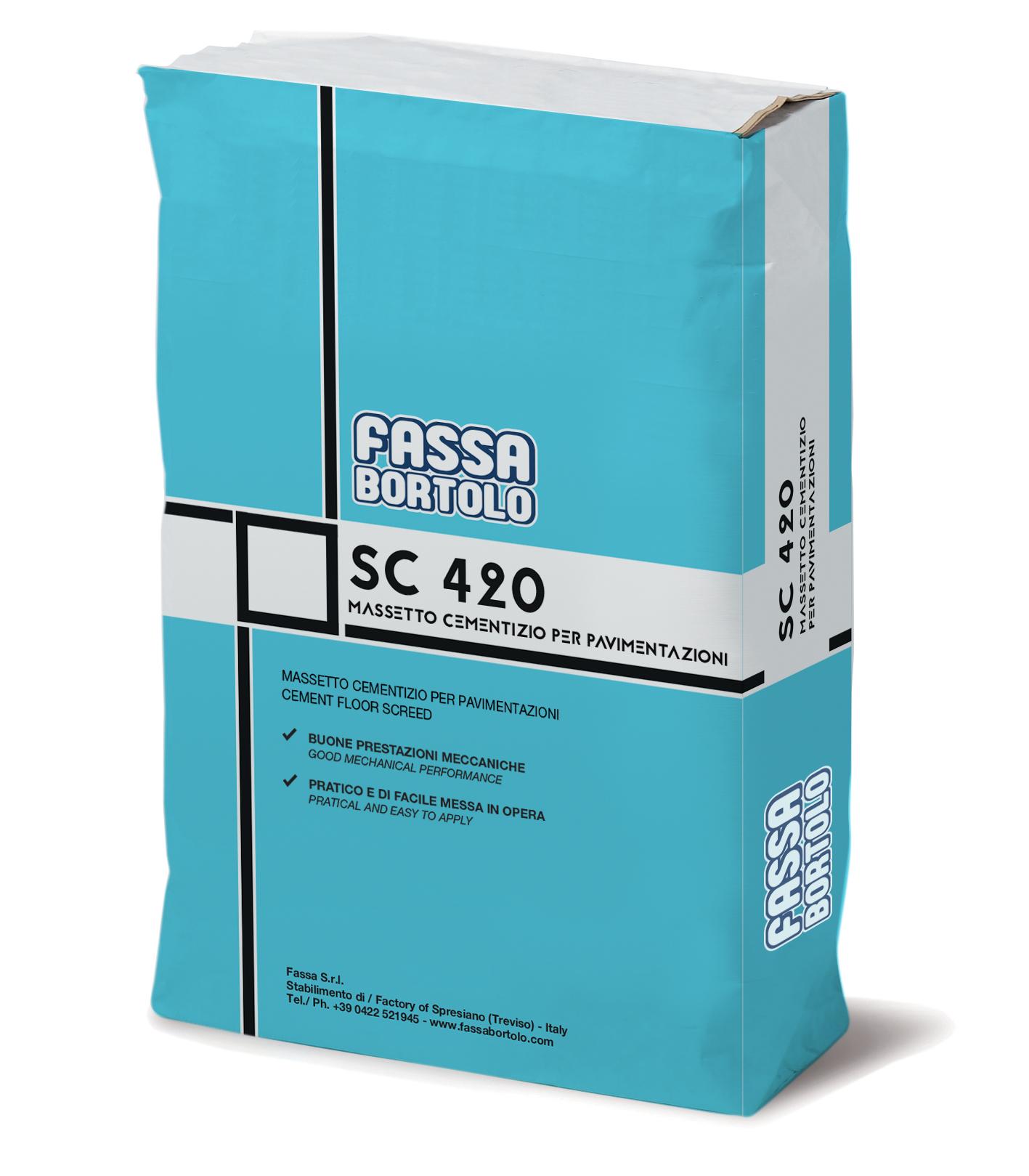 SC 420: Betonilha de base cimentícia, de secagem tradicional e retração controlada, para pavimentos interiores e exteriores