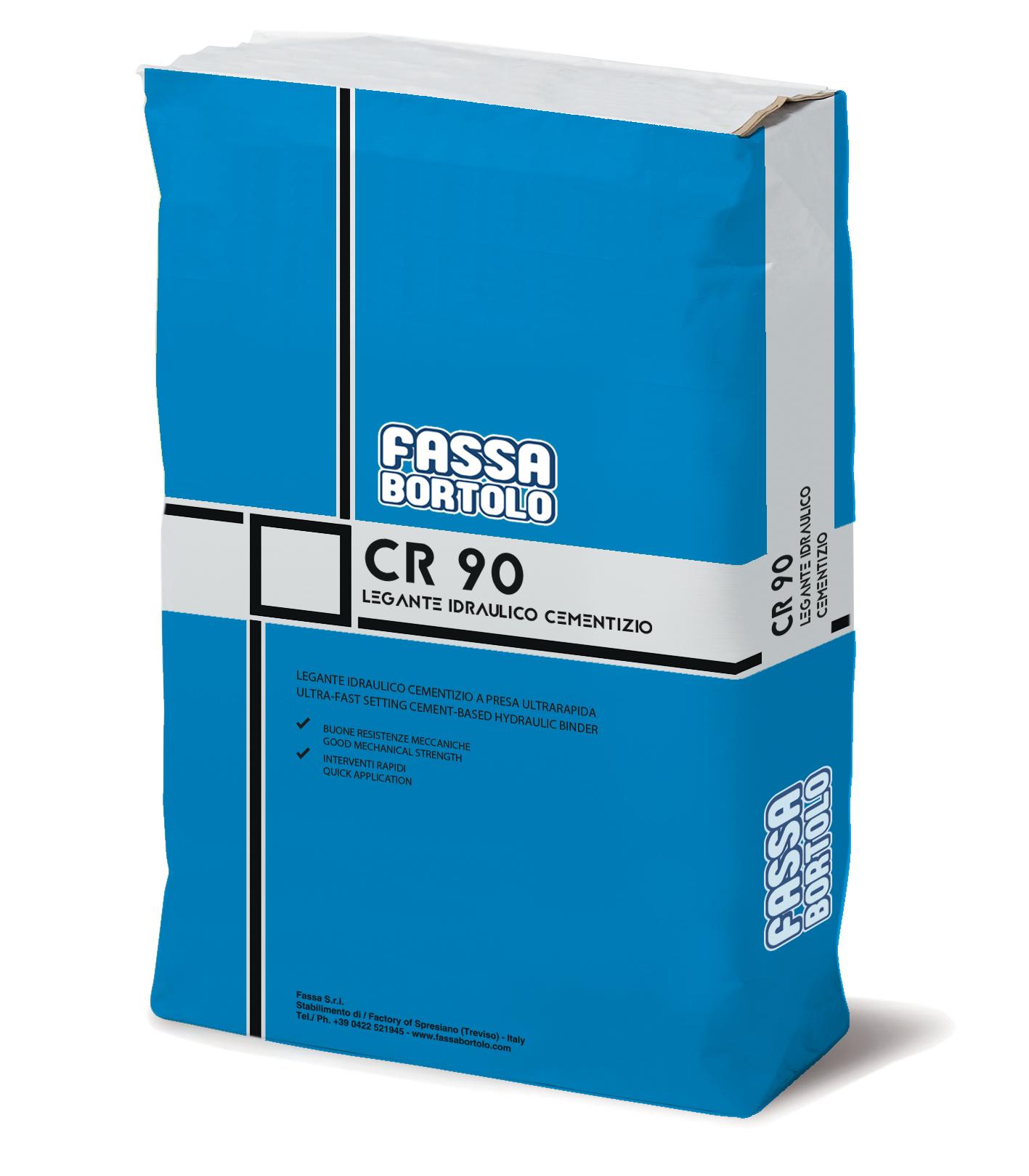 CR 90: Ligante hidráulico cimentício de presa ultra-rápida