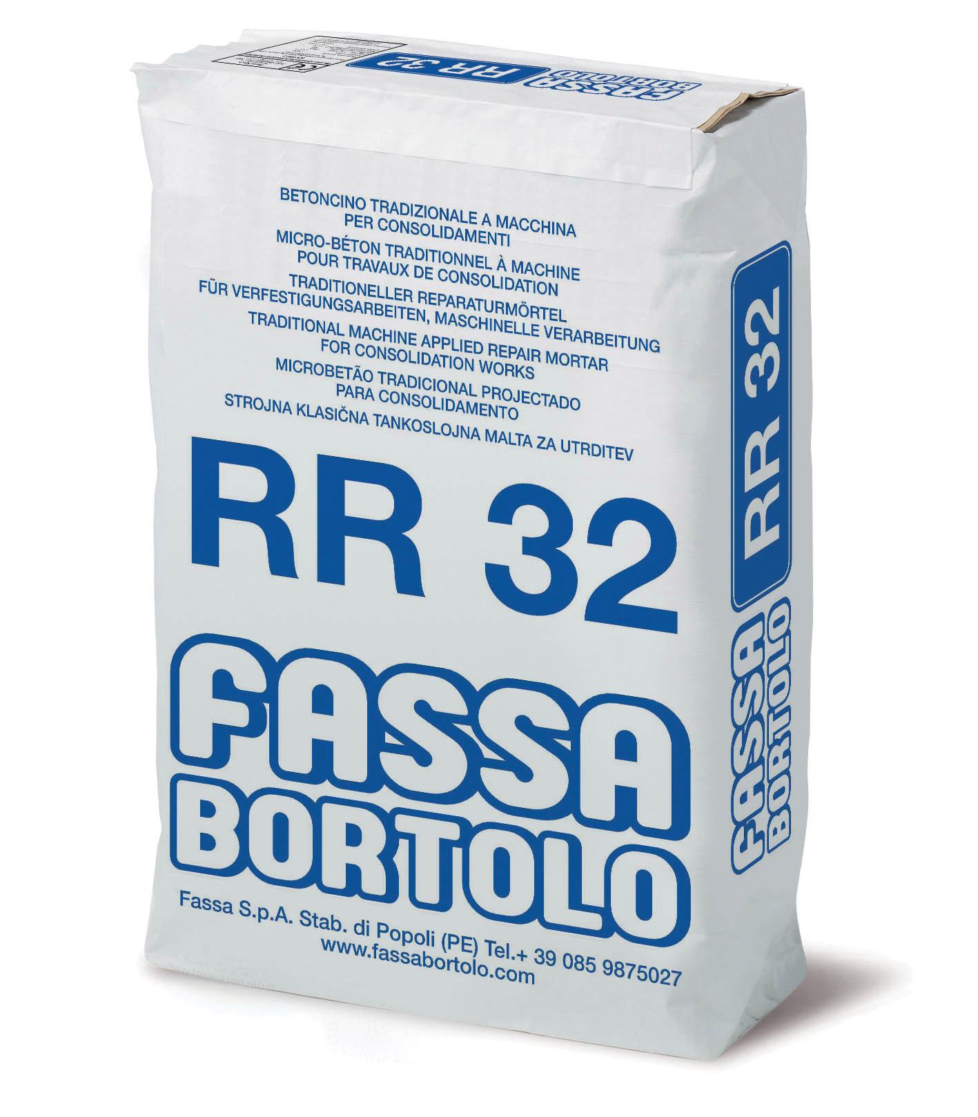 RR 32: Argamassa cimentícia para a consolidação de vertentes e para a rebocadura de alvenarias e de painéis em poliestireno armados