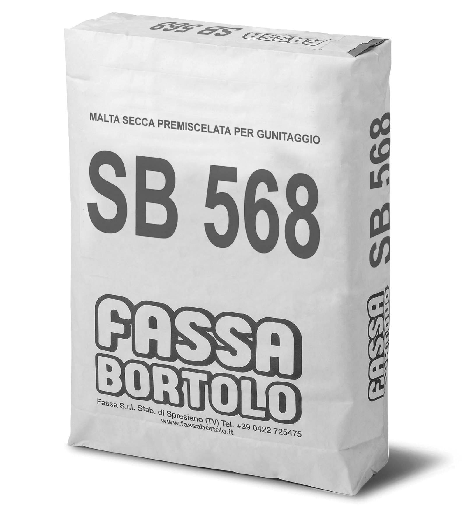 SB 568: Argamassa seca pré-misturada para projeção.