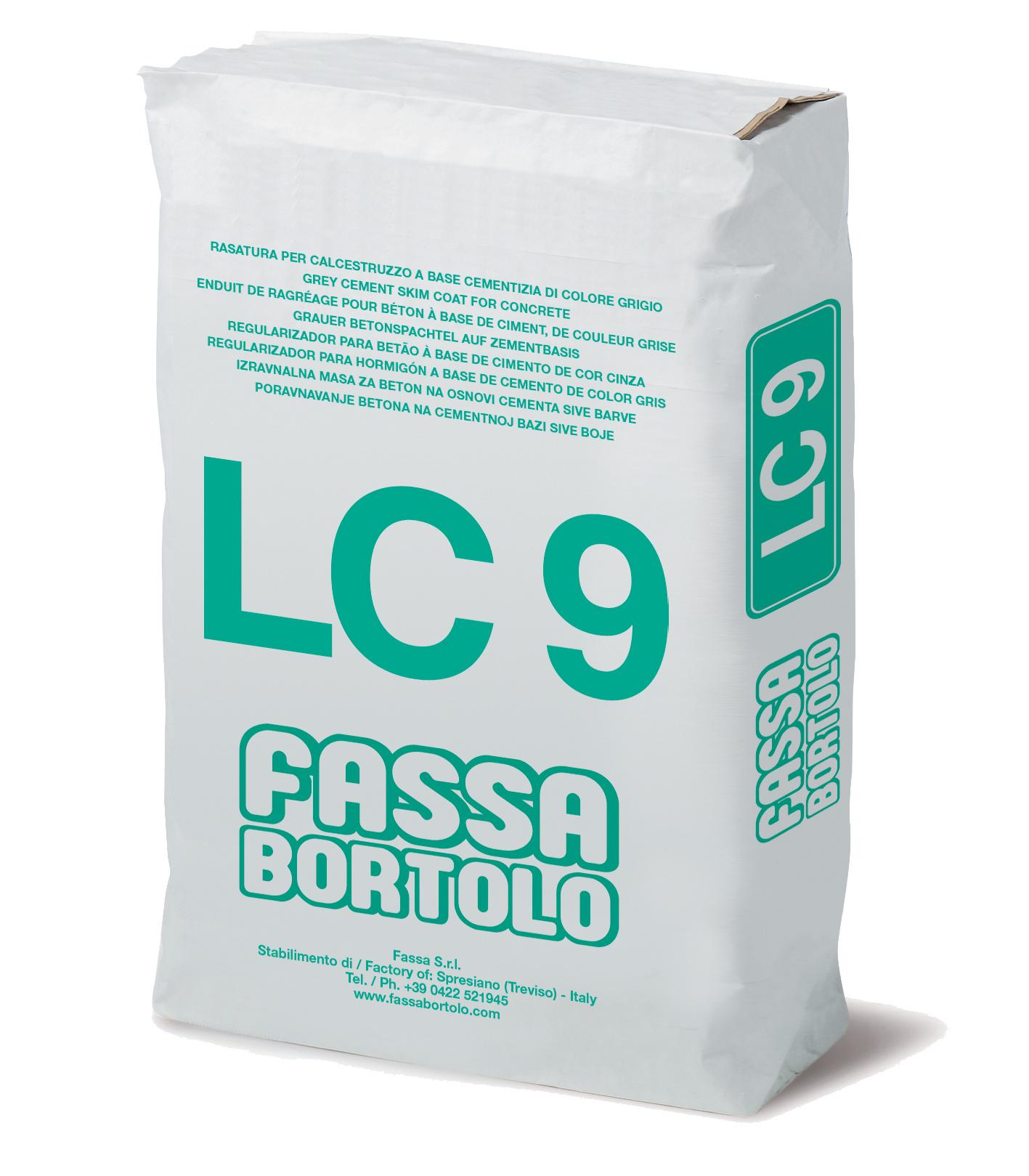 LC 9: Regularizador para betão de base cimentícia de cor cinzenta