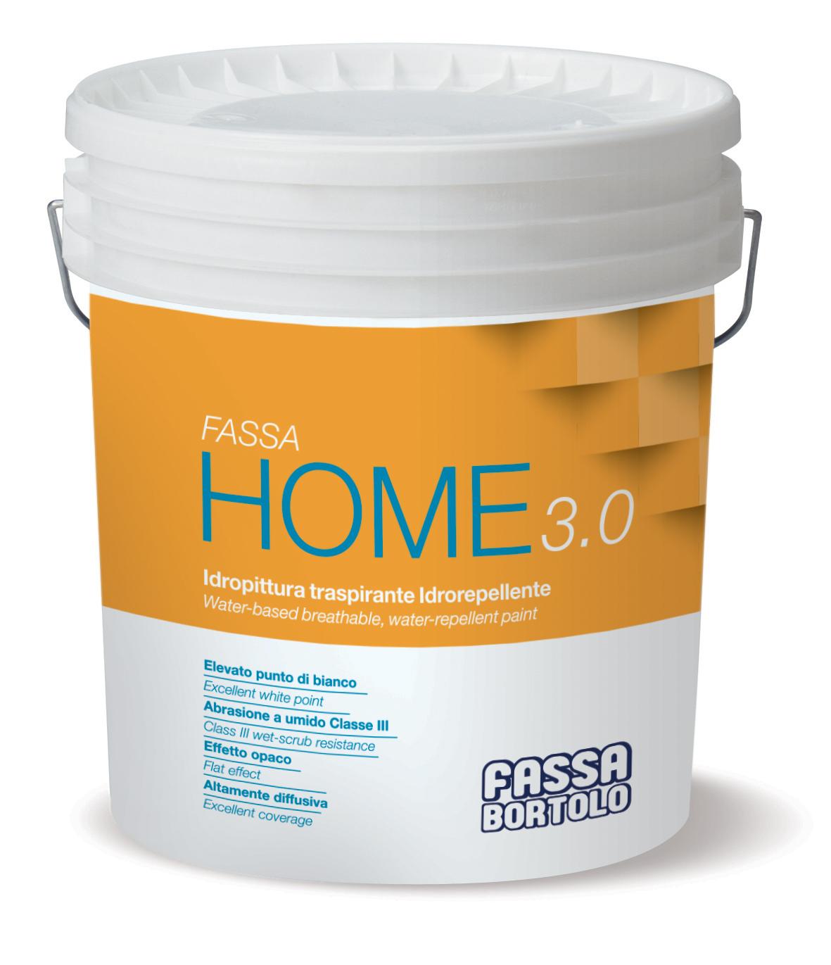 FASSA HOME 3.0: Pintura aquosa transpirável e hidrorrepelente